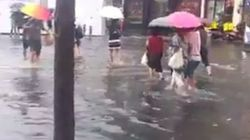 부산 시내 곳곳이 폭우로 침수됐다(사진,
