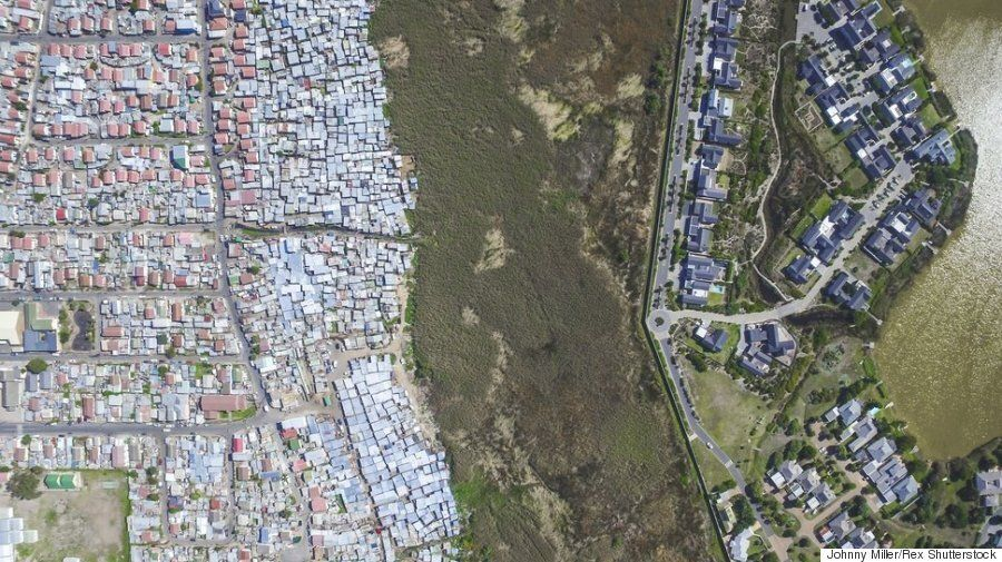 부유층과 빈곤층의 사는 모습이 얼마나 다른지 보여주는 항공