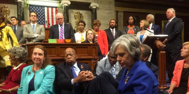 A photo shot and tweeted from the floor of the U.S. House of Representatives by U.S. House Rep. Katherine...