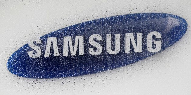 The logo of Samsung Electronics is seen at the company's headquarters in Seoul, South Korea July 6, 2012....