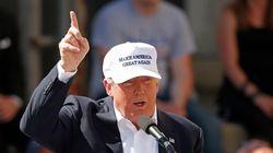 트럼프가 비행기를 가리키며 끔찍한 말을