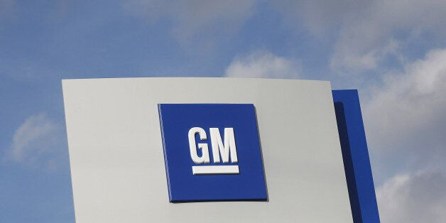 The GM logo is seen in Warren, Michigan October 26, 2015. REUTERS/Rebecca Cook/File Photo GLOBAL BUSINESS...