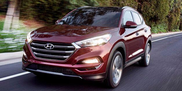 This photo provided by Hyundai Motor America shows the 2016 Hyundai Tucson. Hyundai's entry in the...
