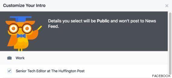 페이스북이 유저들의 프로필을 조금 바꿔놨다