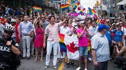 쥐스탱 트뤼도, 현직 캐나다 총리 최초로 프라이드 행진에