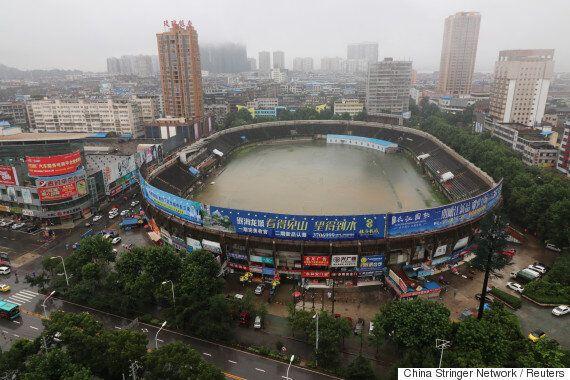 중국에서 엄청난 물폭탄으로 이재민만 736만 명이