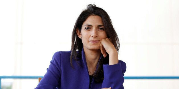 Virginia Raggi, the anti-establishment 5-Star Movement's candidate for Rome mayor, poses during an interview...