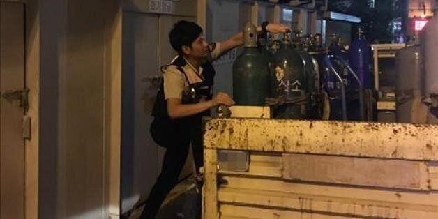 경찰의 신속한 대응 '가스 폭발'