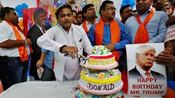 인도에서 트럼프의 생일파티가