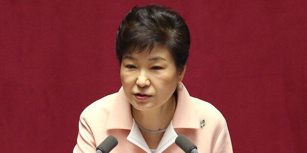 박근혜 대통령이 13일 오전 국회에서 열린 20대 국회 개원식에서 개원 연설을 하고