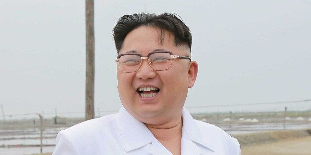 North Korean leader Kim Jong Un visits the Kwisong Saltern to learn about the salt production from underground...