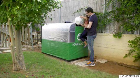 이 기계는 당신의 집에서 음식쓰레기를 가정용 가스로