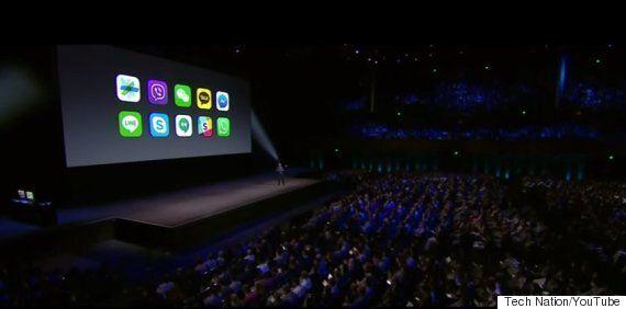 애플의 '세계 개발자 회의'에 카카오톡과 라인이