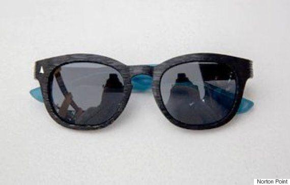 바닷가에 버려진 플라스틱 쓰레기로 만든 선글라스