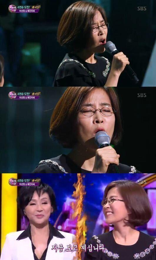 '판듀' 랩하는 이선희, 김수희 꺾었다..4연승