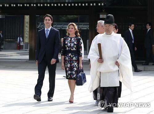 캐나다 총리 트뤼도가 일본 방문 중 맞은 결혼기념일에 한