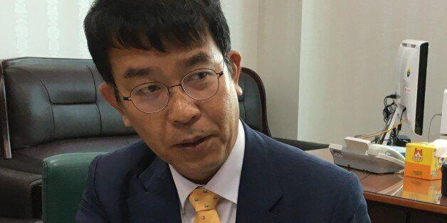 김종대 의원(정의당)이 국회 의원회관 사무실에서 기자의 질문에 답변하고 있다. (김종대 의원실