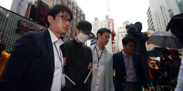 '강남역 살인' 피의자 현장 검증이