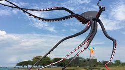 싱가포르의 하늘에 거대한 '문어' 가