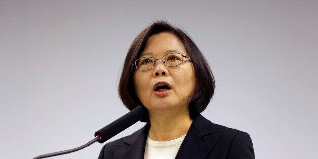 Taiwan's President-elect Tsai Ing-wen, announces that Lin Chuan is her choice for premier at their Democratic...