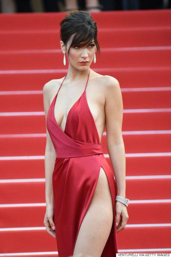 벨라 하디드의 드레스는 정말 과감했다