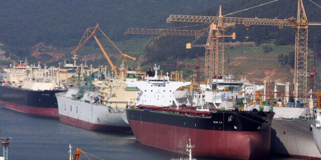 Okpo shipyard of South Korea's Daewoo Shipbuilding & Marine Engineering (DSME) is seen in Koeje island....