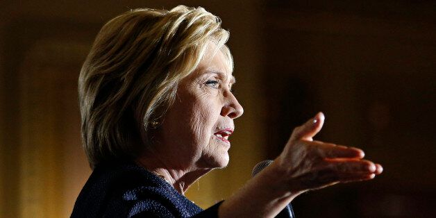 Democratic presidential candidate Hillary Clinton speaks at a rally, Thursday, May 26, 2016, in San Francisco....