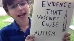 12살 소년이 백신과 자폐증의 관계를 증명하는 자료를 낱낱이
