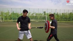 축구선수 김병지와 배구선수 문성민이 한판