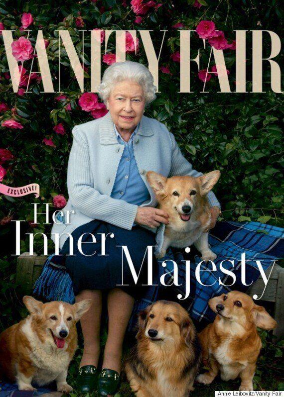 엘리자베스 영국 여왕, 90세를 맞아 강아지들과 함께 '베니티 페어' 표지에