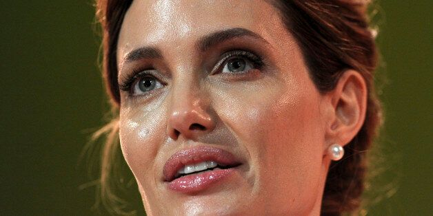 Actress and special envoy of the UN High Commissioner for Refugees (UNHCR), Angelina Jolie, makes her...