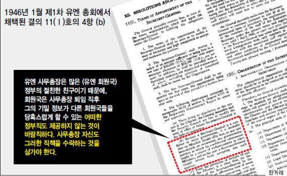 '퇴임 직후 정부직 제한' 유엔 결의는 반기문 대선출마를