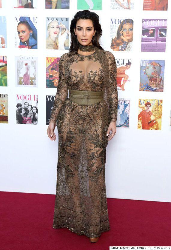 킴 카다시안의 새로운 누드 드레스는 보다 우아하다