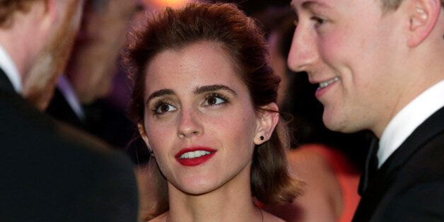 Actress Emma Watson attends the White House Correspondents' Association annual dinner in Washington,...