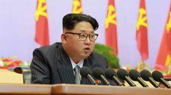 정장을 입은 북한 김정은이 '노동당 대회'에 참석해 한