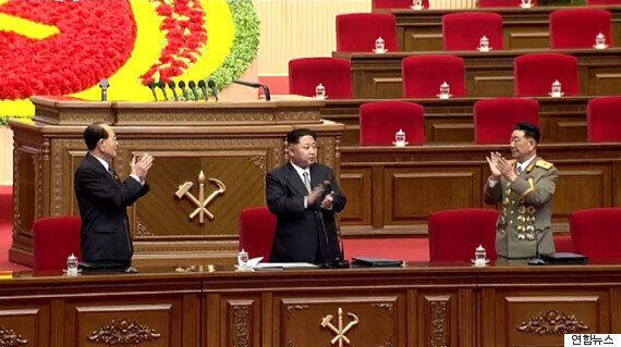정장을 입은 북한 김정은이 '노동당 대회'에 참석해 한 말(개회사