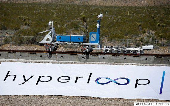 상상속의 '음속열차' 하이퍼루프 첫 시험주행이 성공적으로 끝나다