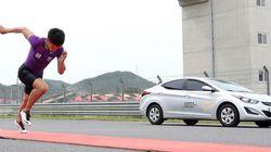 자동차-인간 70m 달리기, 인간이