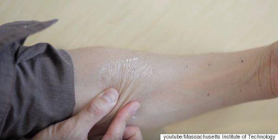 일시적으로 피부를 탱탱하게 당기는 물질이 개발됐다(사진,
