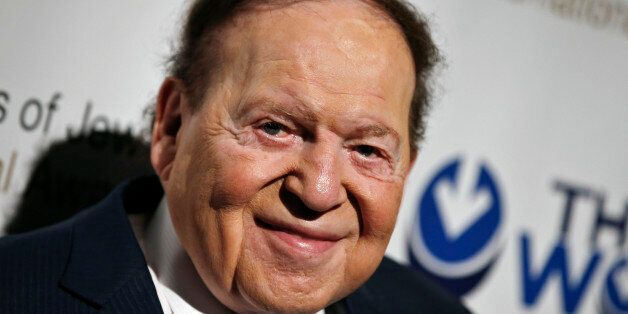 Las Vegas gaming tycoon Sheldon Adelson attends the second Annual Champions of Jewish Values International...