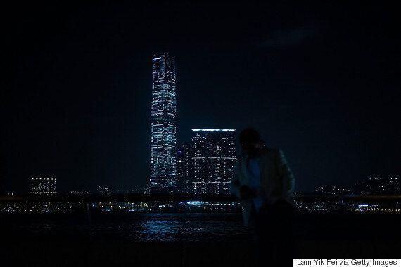 홍콩의 가장 높은 빌딩에 숨겨진 대담한