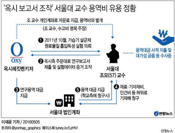 '옥시 보고서 조작' 혐의 서울대 교수, 연구용역비 유용 정황이 검찰에