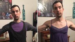 이 남성이 여자친구의 옷을 입고 사진을 찍은 이유 (사진,