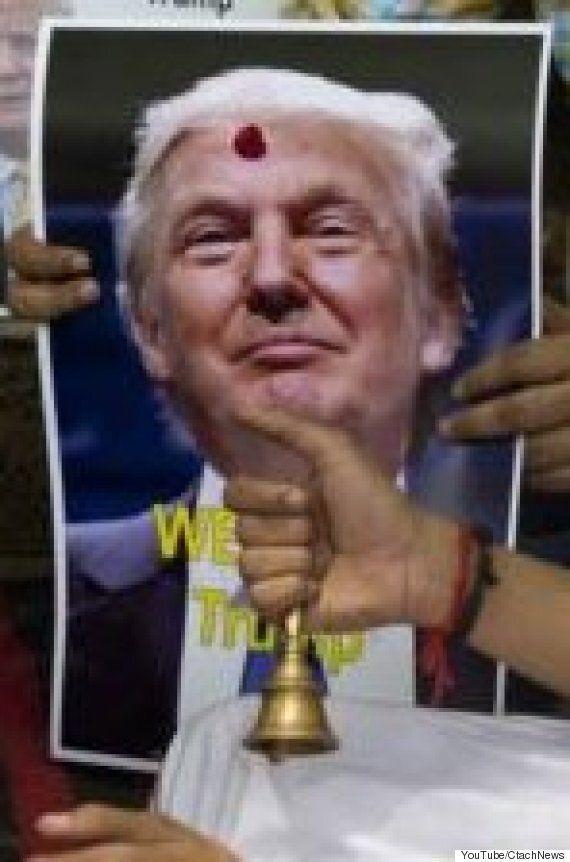보수 힌두교도들이 트럼프를 지지하는 종교적