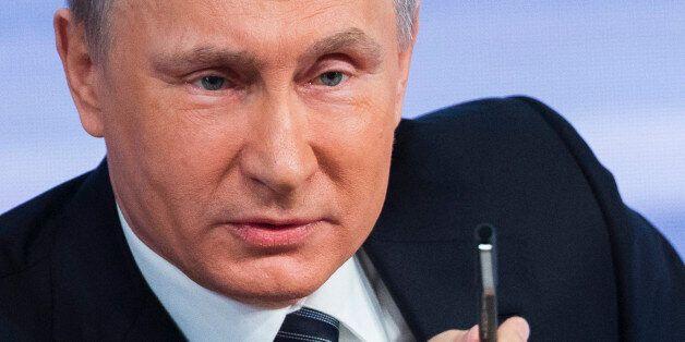 FILE - In this Thursday, Dec. 17, 2015 file photo, Russian President Vladimir Putin speaks during his...