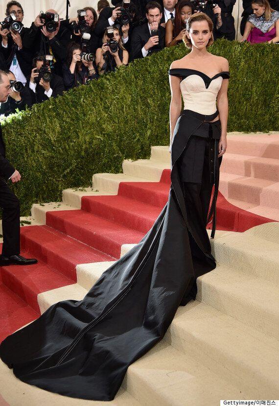 엠마 왓슨, 플라스틱병을 재활용한 섬유로 만든 드레스를
