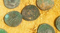 스페인 공사현장서 발견된 로마 동전