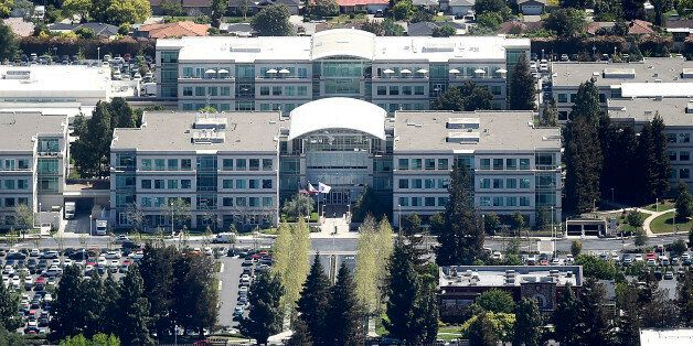 Apple's headquarters on Infinity Loop is seen in Cupertino, California in this aerial photo taken April...