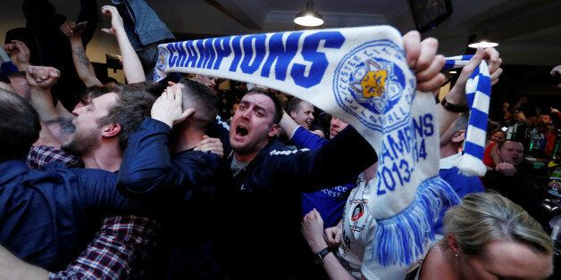 Britain Football Soccer - Leicester City fans watch the Chelsea v Tottenham Hotspur game in pub in Leicester...