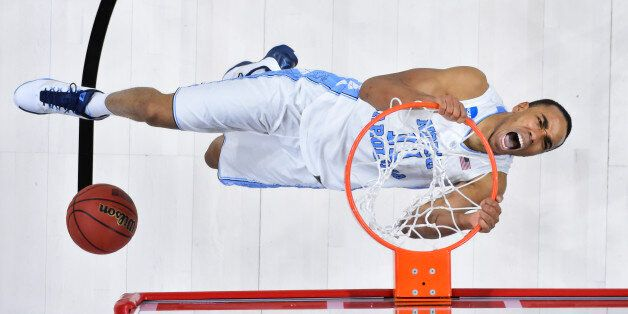 Mar 19, 2016; Raleigh, NC, USA; North Carolina Tar Heels forward Brice Johnson (11) dunks the ball against...